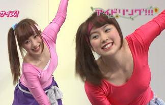 【放送事故】アイドリングで乳首ぽっち!レオタードのアイドル達が際どすぎるエクササイズ! 画像83枚