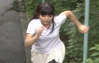 【JK画像】全力坂に17歳の女子高生キタ━━━━(゚∀゚)━━━━!!!! JKが汗だくになって疾走する姿に萌え 画像16枚
